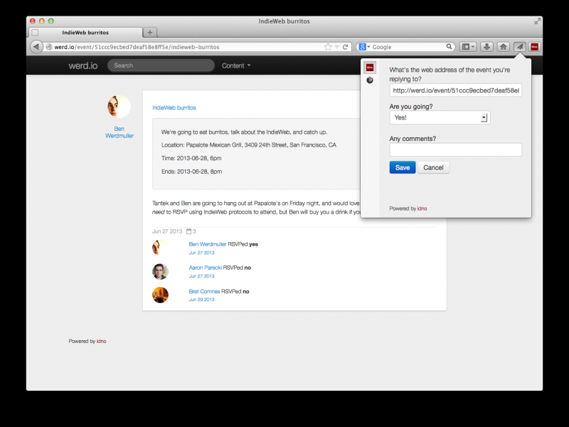 Firefox Social API integration