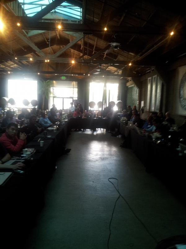 The crowd at #osfw3c