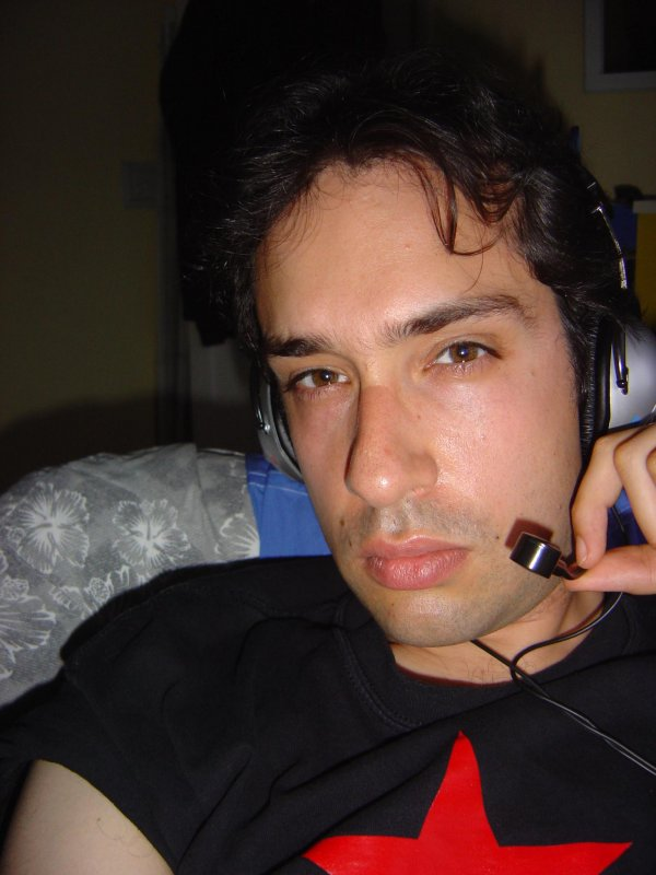 """I have hundreds of """"I'm in a tedious conference call"""" selfies. This one's from 2005. #tbt"""
