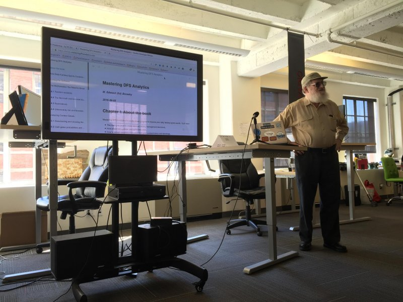 Ed @znmeb is using Bookdown to write a book about fantasy sports analytics. #indieweb