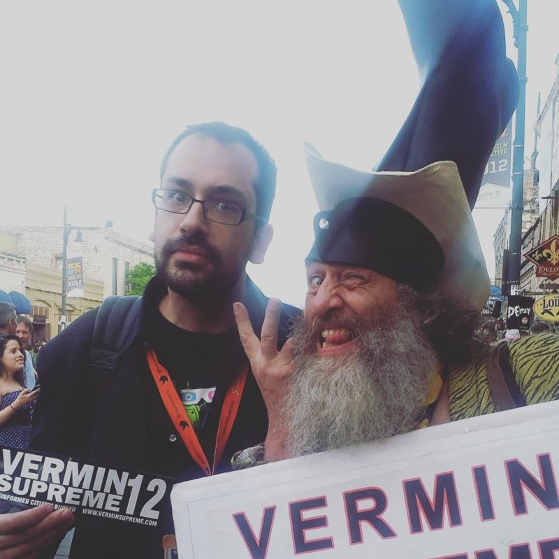 My only ever official campaign endorsement was for #verminsupreme.  #election2016 #politics #freepony #mandatorytoothbrushing #tbt #america #sxsw