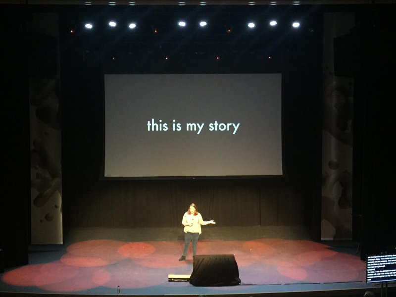 Excited to hear @itsa_talia's story. Inspired by her speaking out. #xoxofest