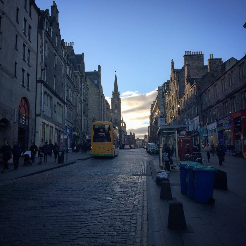 The Royal Mile itself is a beautiful stretch from the castle, at the top of the street, to Holyrood Palace, at the bottom. Very touristy, but it has a few really important points of light.