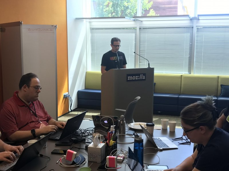 """""""You are in control."""" @t says it's been an amazing seventh year of #indieweb."""