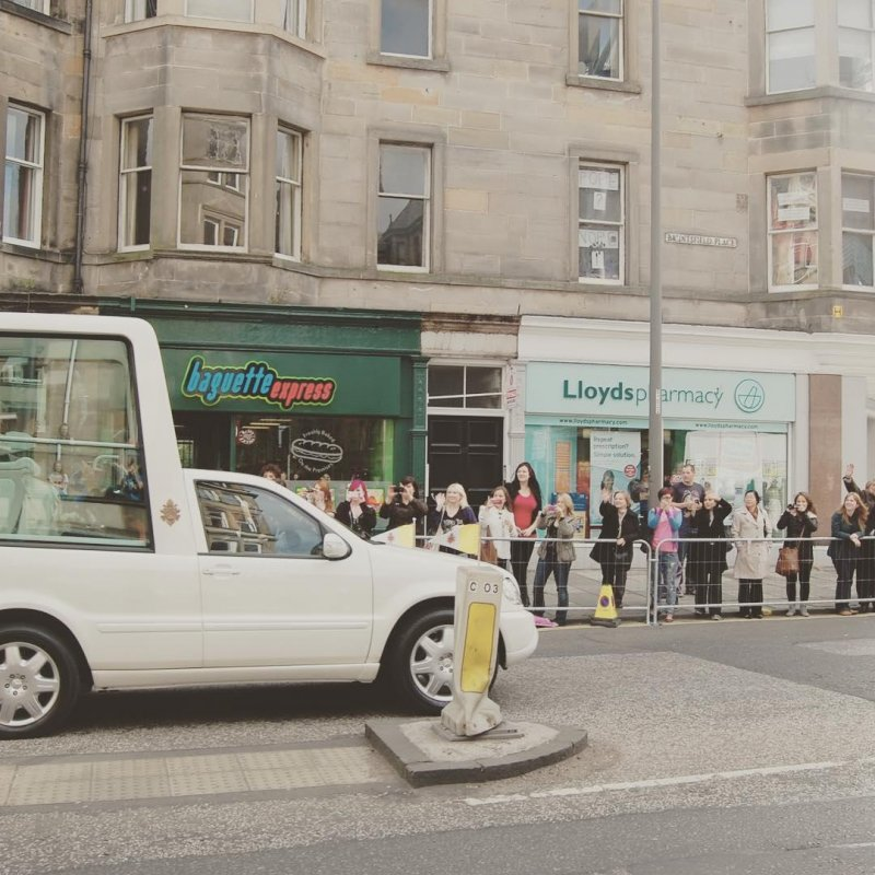 It was about this time seven years ago that I watched the Pope wave to his mate outside Baguette Express