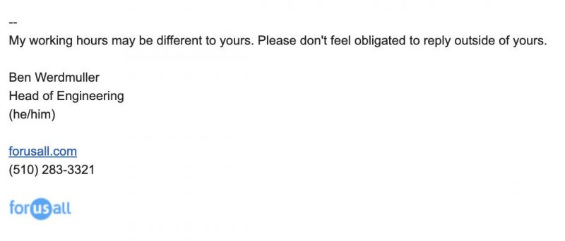 My work email signature.